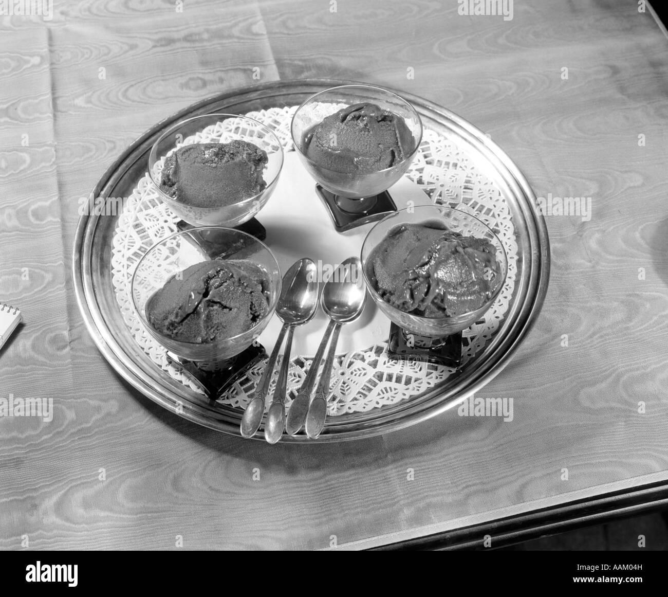 ICE CREAM DISH SPOONS - Stock Image