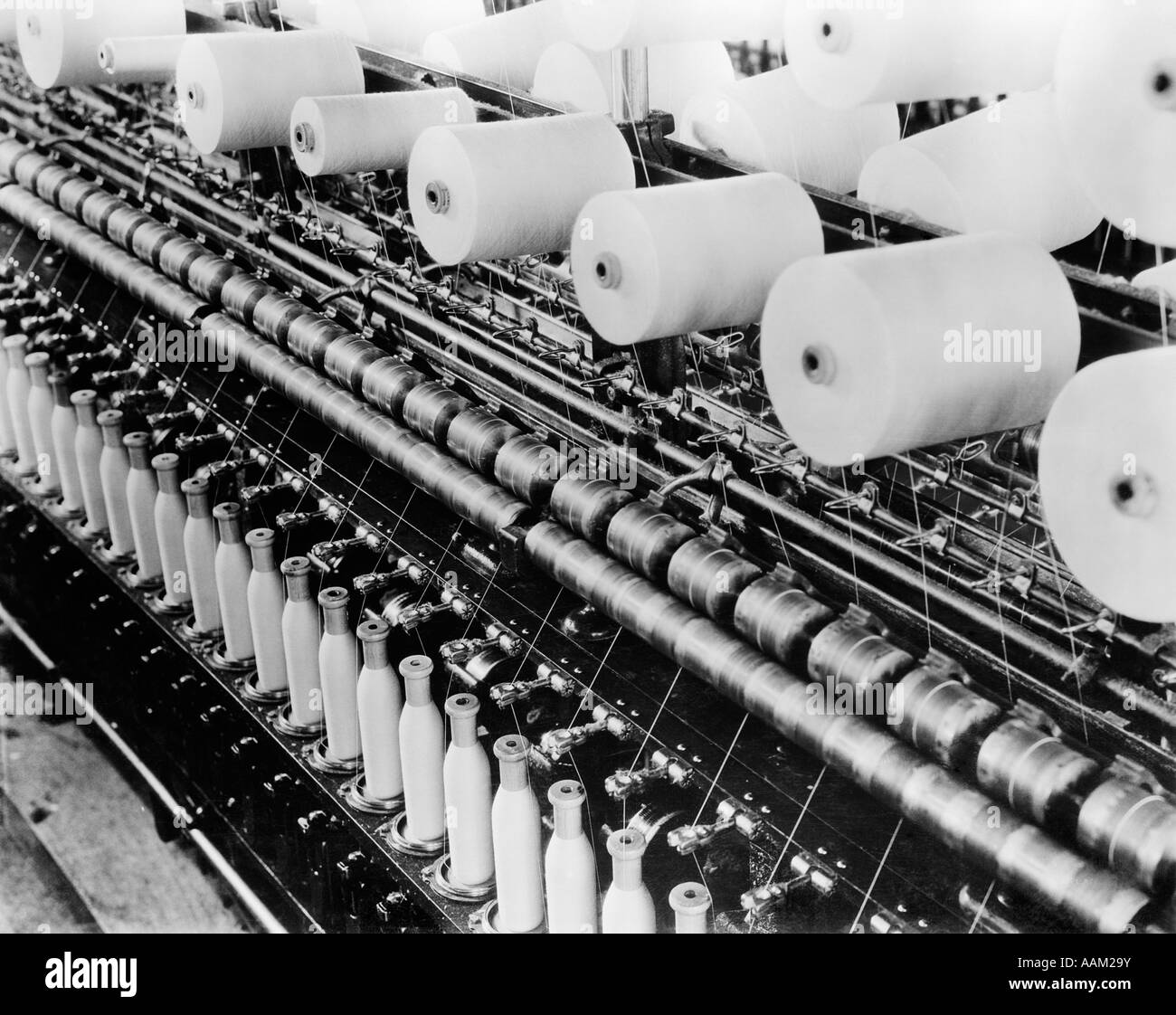 1930s FACTORY TEXTILE - Stock Image