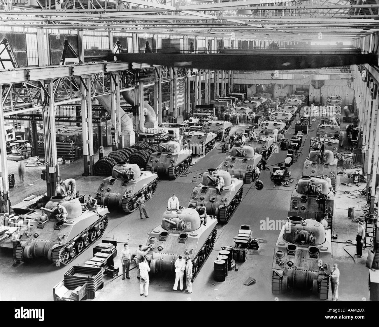 1940s GENERAL SHERMAN TANKS IN PRODUCTION CHRYSLER
