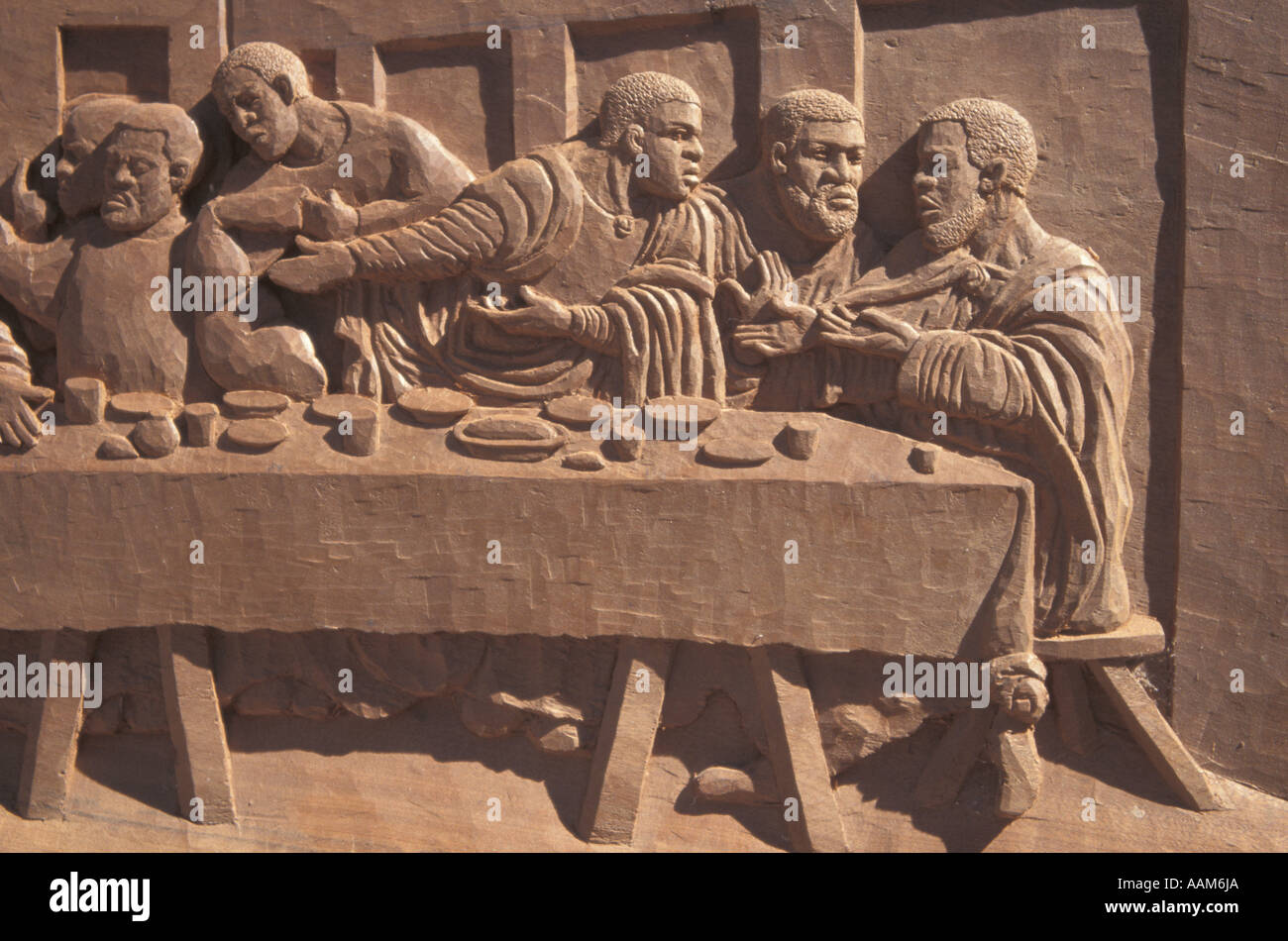 African Art And Craft Zimbabwe Hand Carving Stock Photo