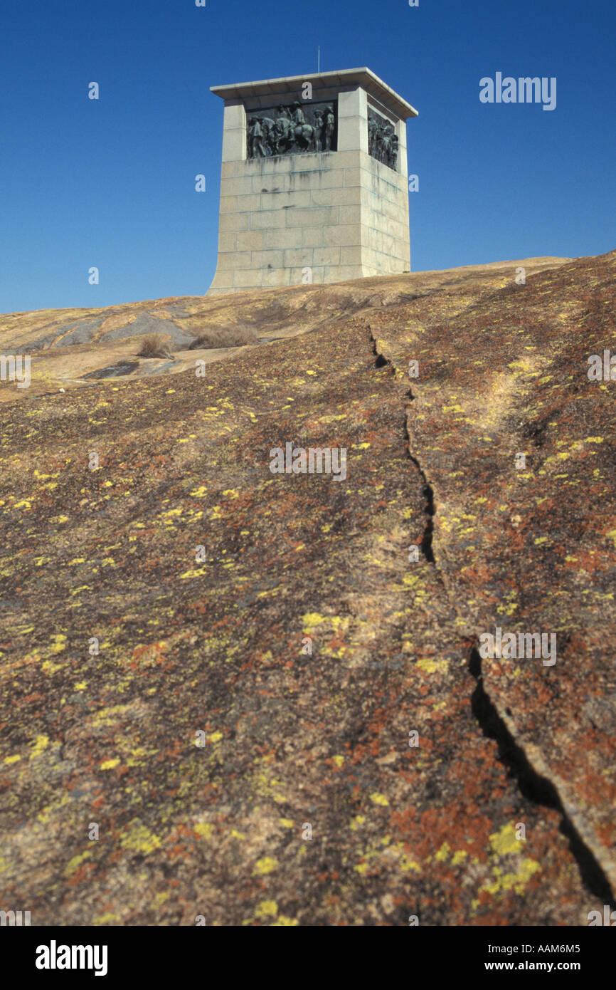 Allan Wilson Memorial - Africa Cecil John Rhodes Rhodesia 'View of the World' Matopos Hills - Stock Image