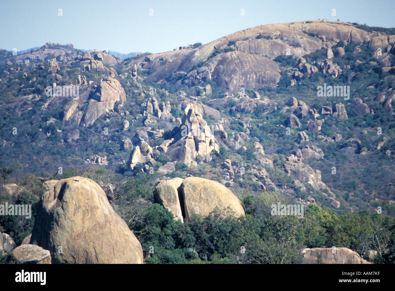 Africa Cecil John Rhodes Rhodesia 'View of the World' from Matopos Hills - Stock Image