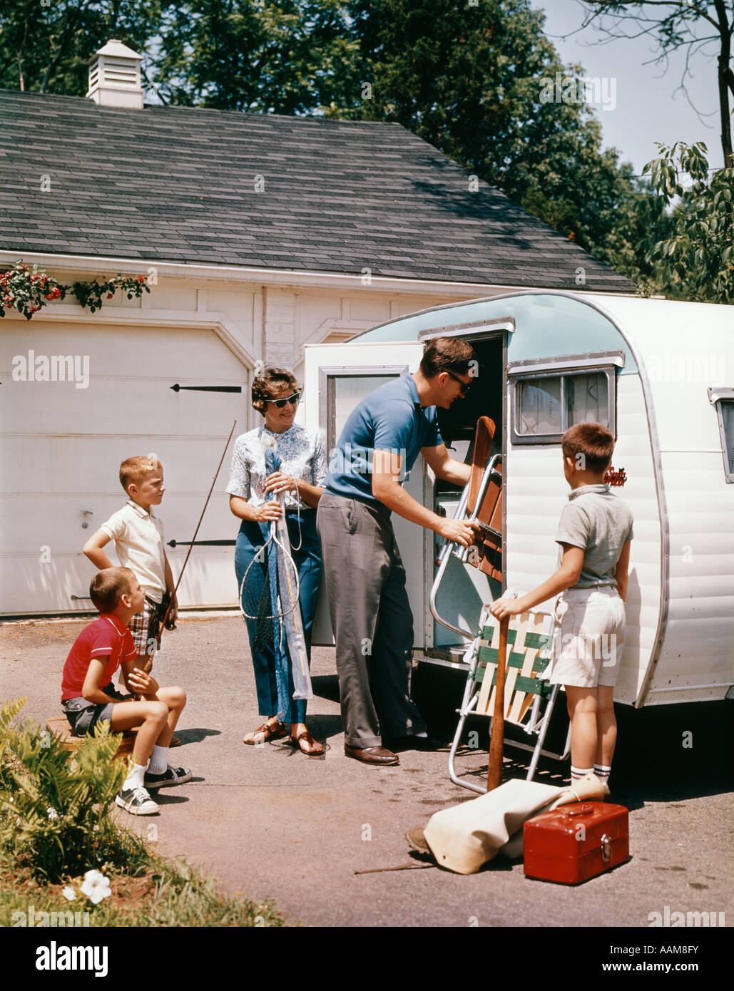 Camping 1960s Stock Photos Amp Camping 1960s Stock Images