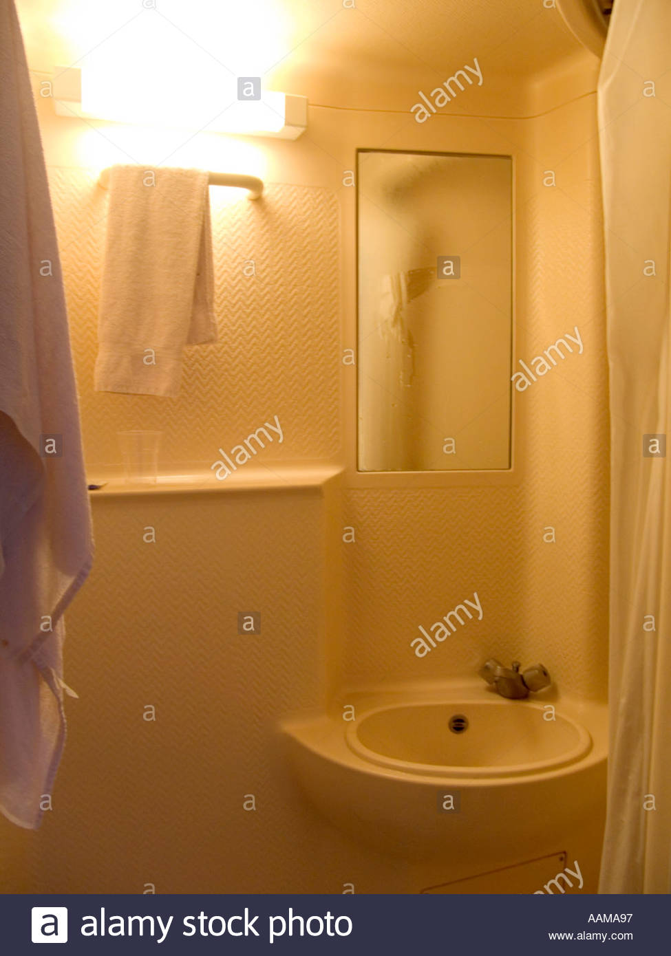 shower room cabin molded as one piece out of plastic Stock Photo ...