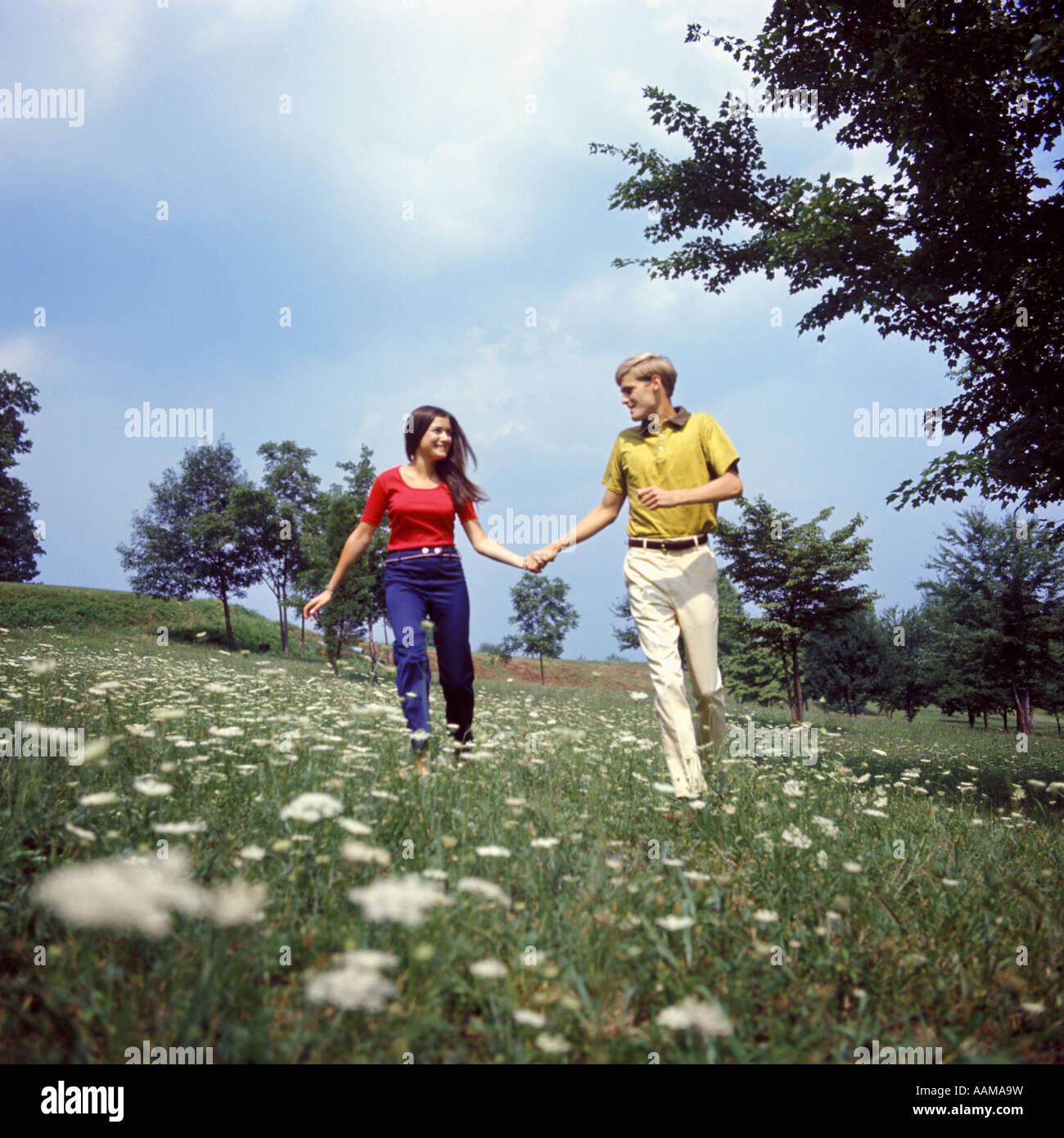 1970s Fashion Couple Stock Photos & 1970s Fashion Couple