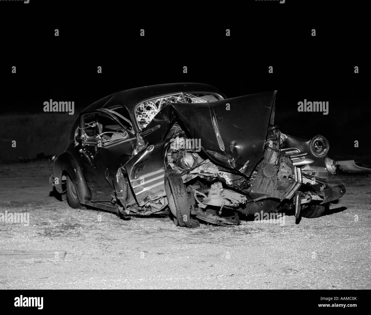Car Stock Photos: 1950's Car Crash Stock Photos & 1950's Car Crash Stock
