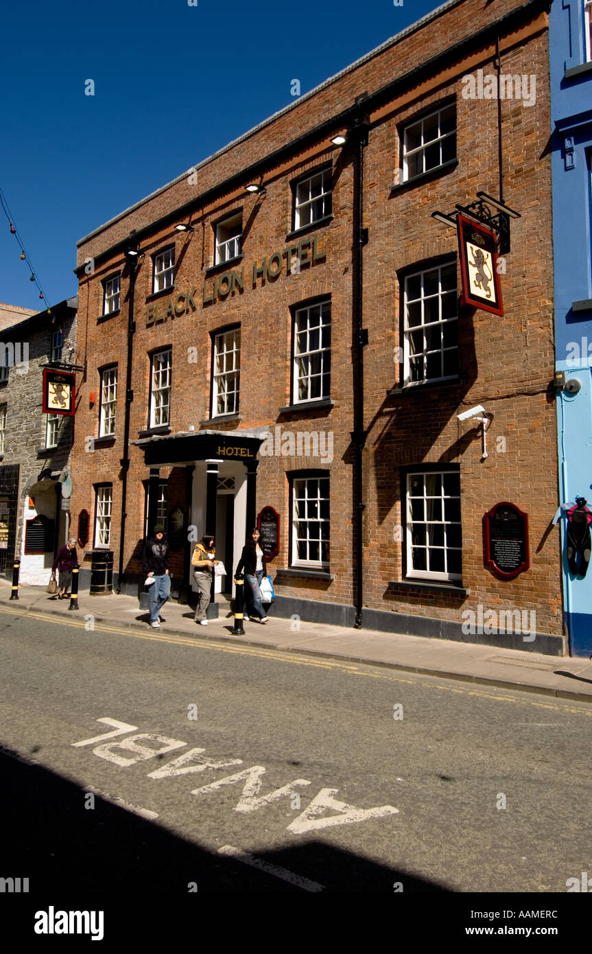The Black Lion Hotel Cardigan Wales UK - Stock Image