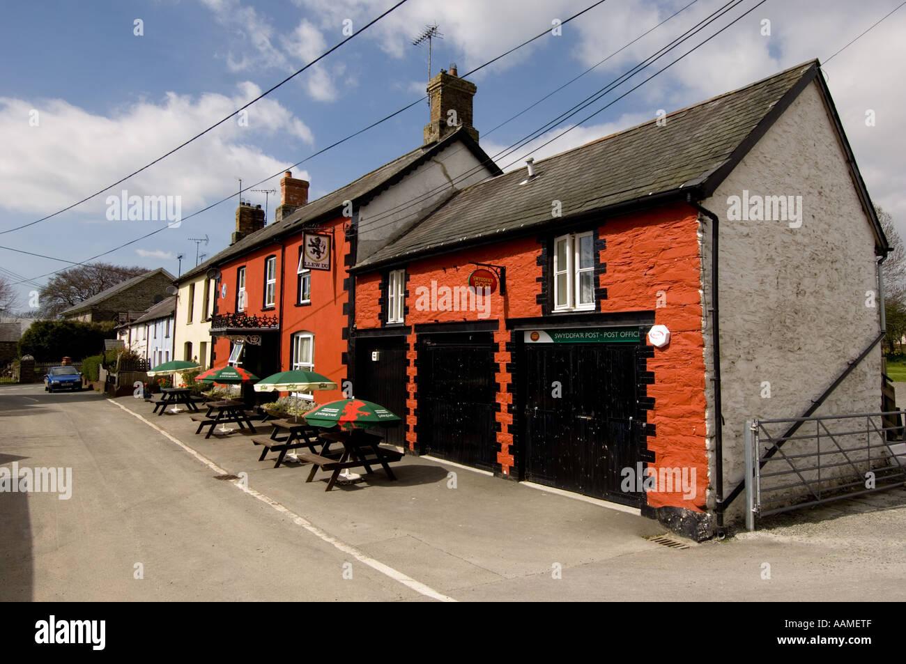 The Black Lion Hotel pub.Pontrhydfendigaid, ceredigion Mid Wales - Stock Image