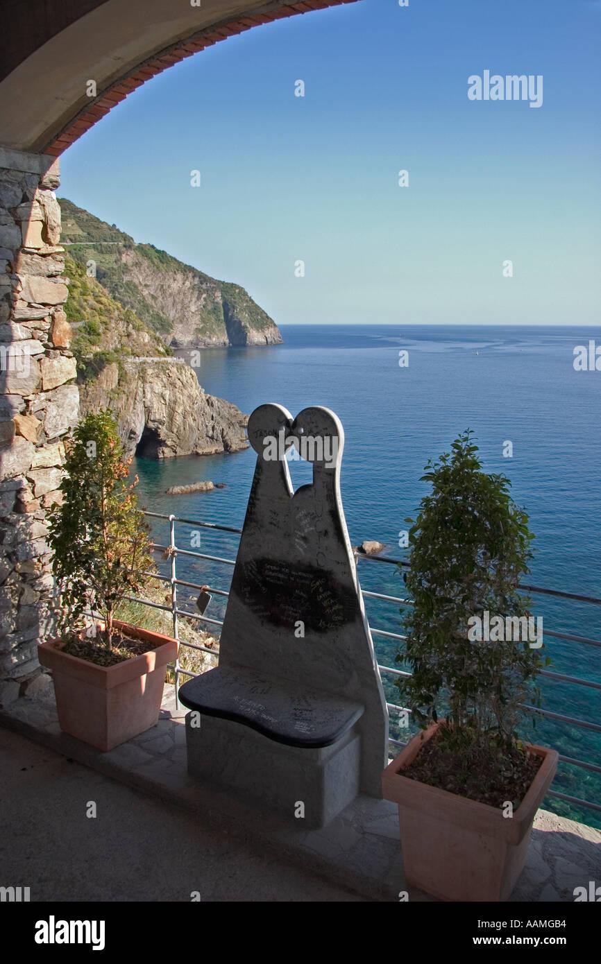 Via dell Amore Cinque Terre Liguria Italy - Stock Image