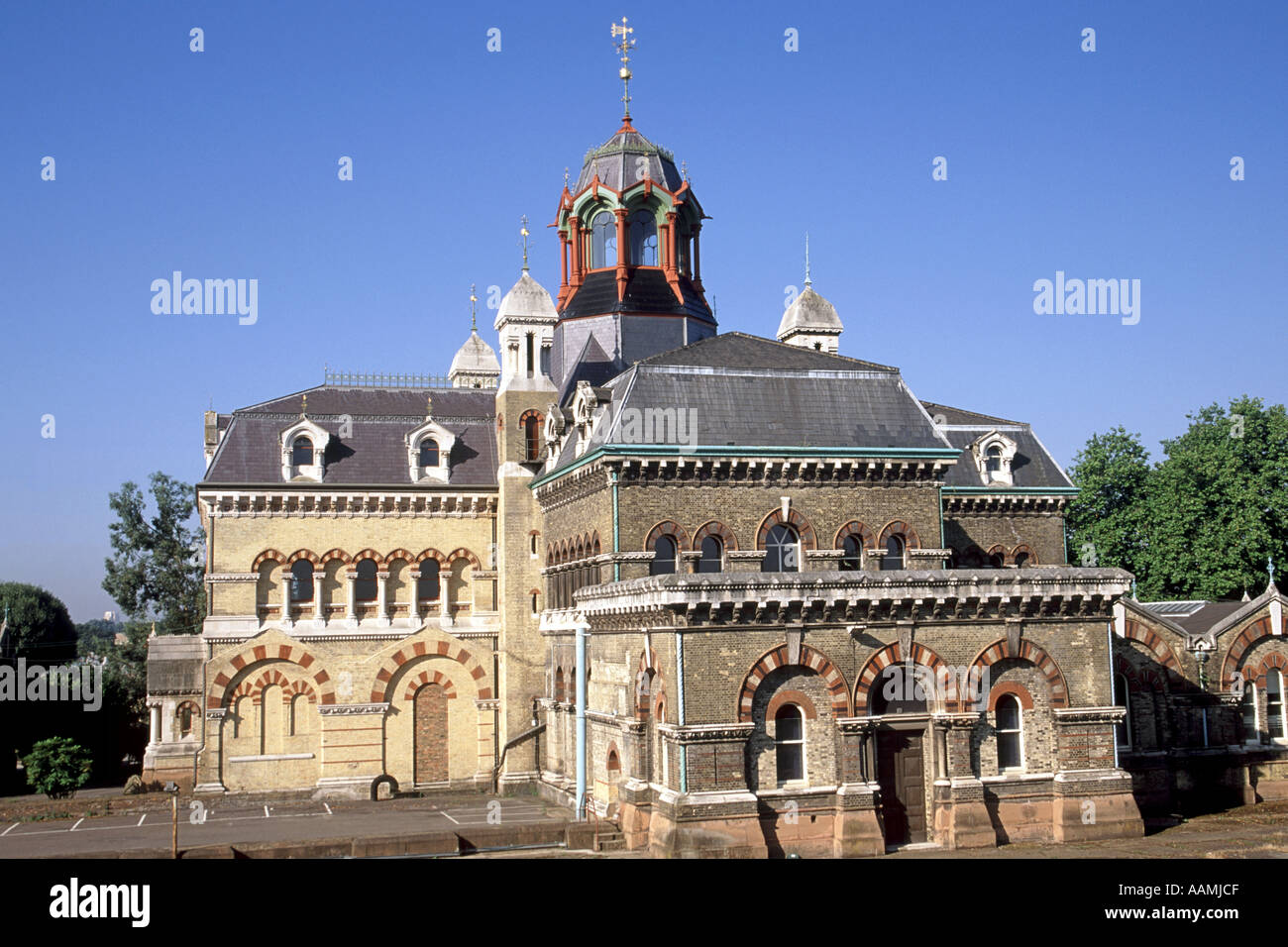 Abbey Mills, a Victorian-era sewage-pumping station in Stratford, East London. - Stock Image
