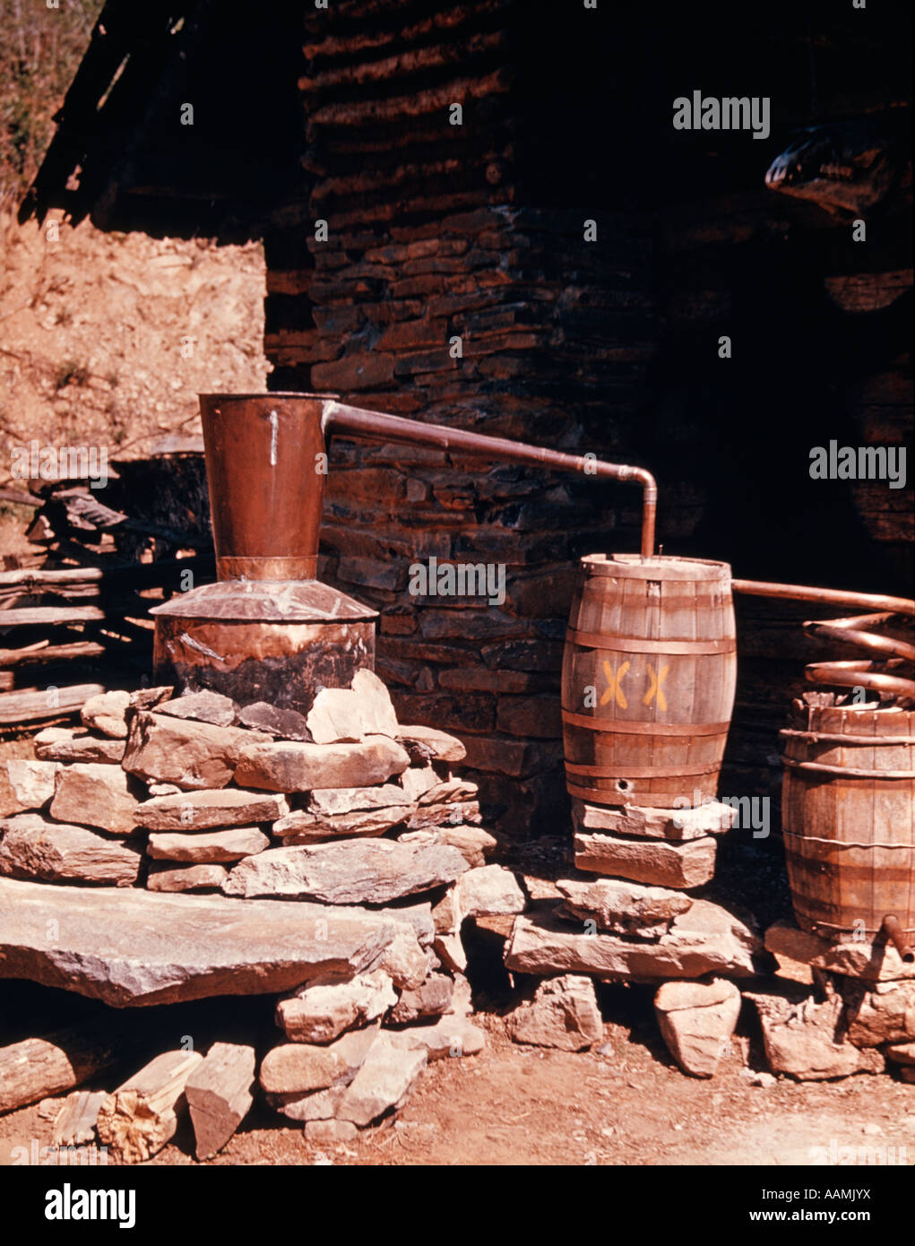 LIQUOR STILL - Stock Image