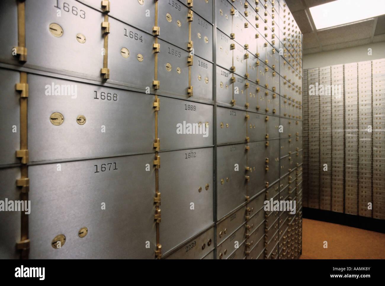 Safe deposit boxes - Stock Image
