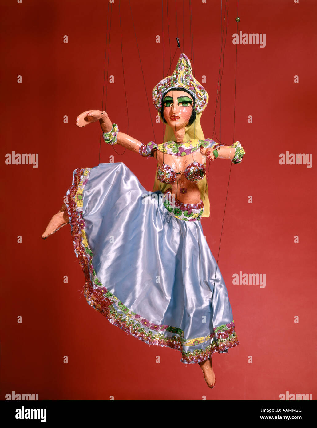 MARIONETTTE PUPPET OF INDIAN BELLY DANCER - Stock Image