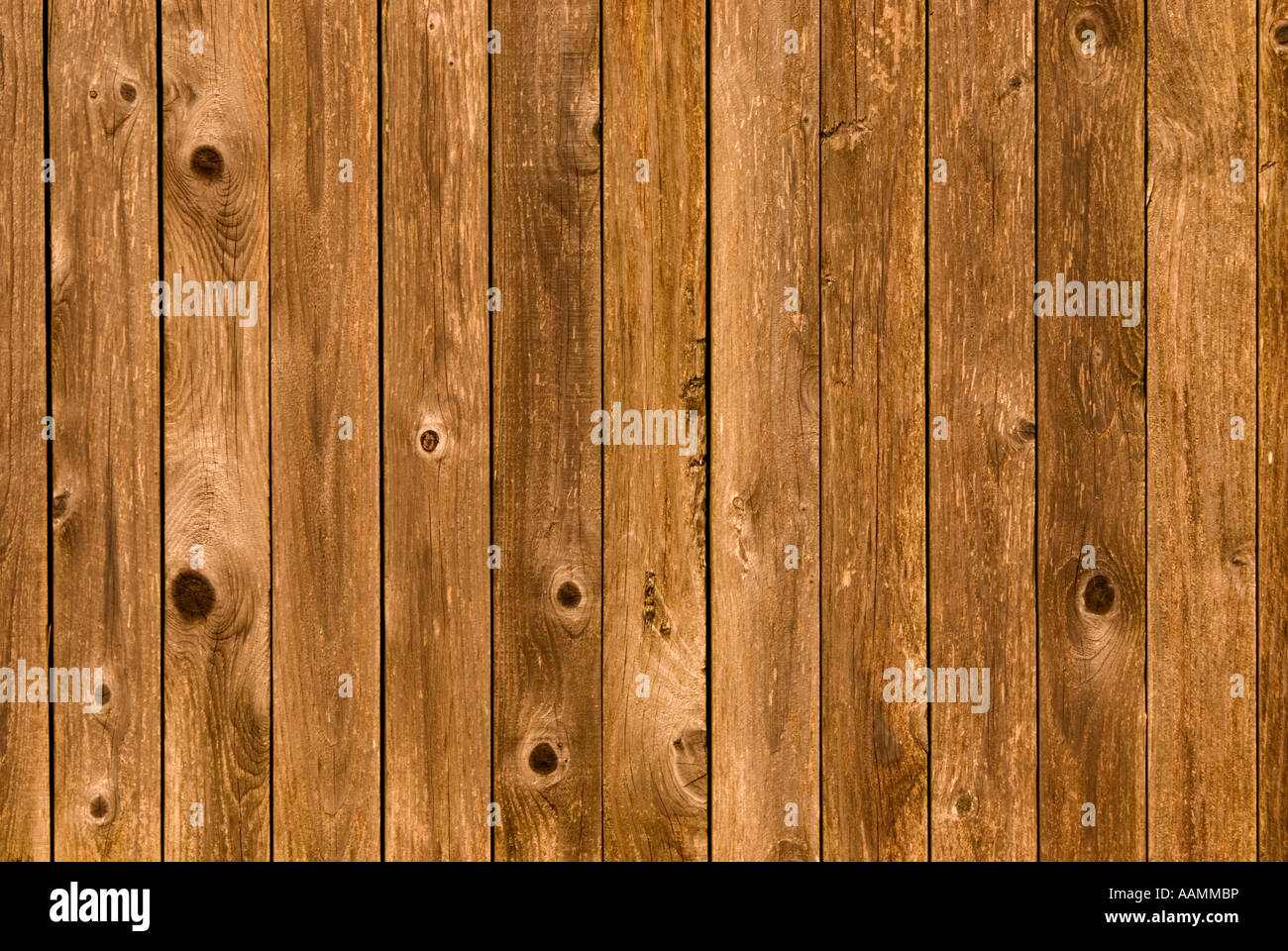 close up of wood fence - Stock Image