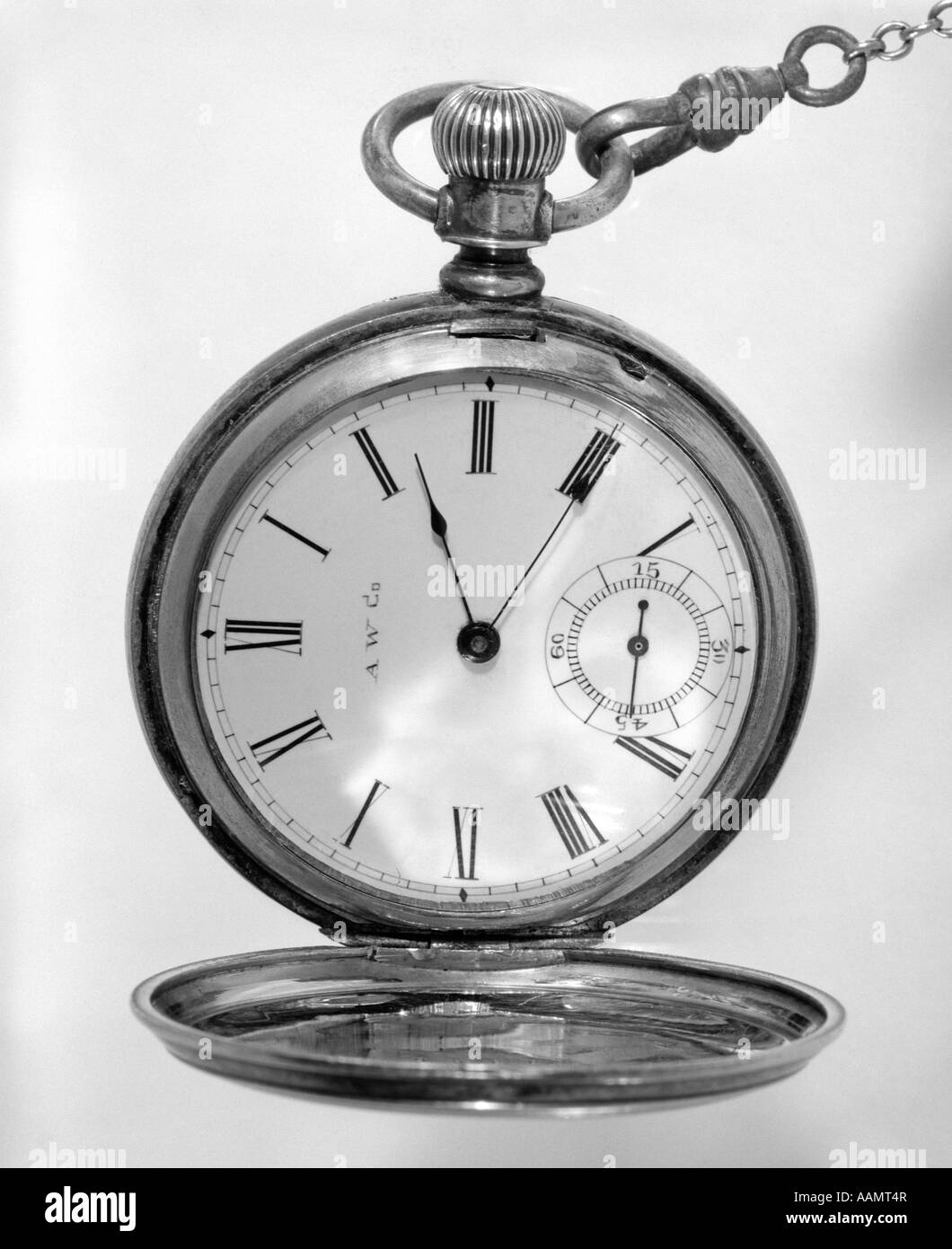 CLOSE-UP OF OPEN POCKET WATCH - Stock Image