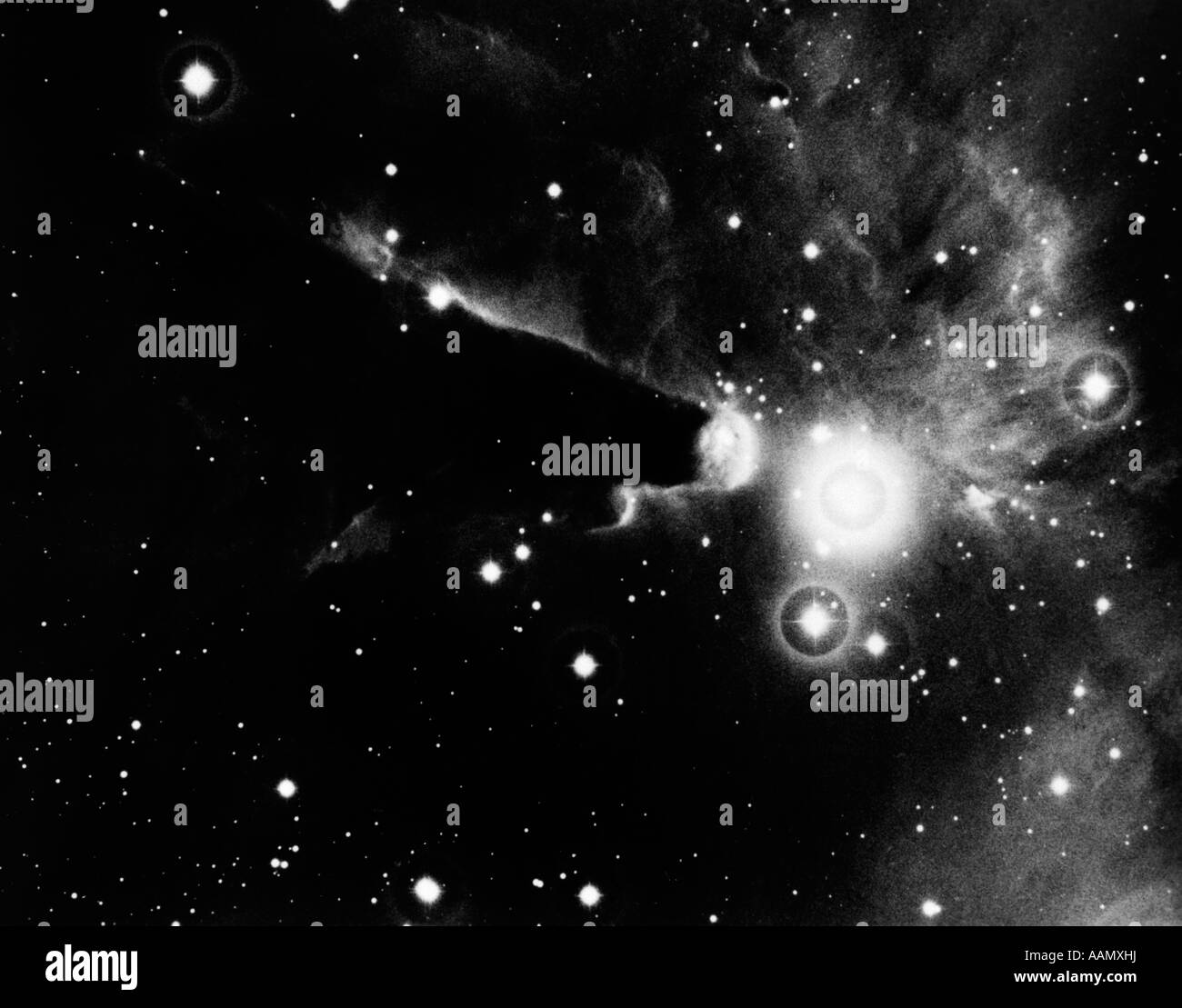 1950s OUTER SPACE SHOT OF CLOUDINESS IN STAR CLUSTER - Stock Image
