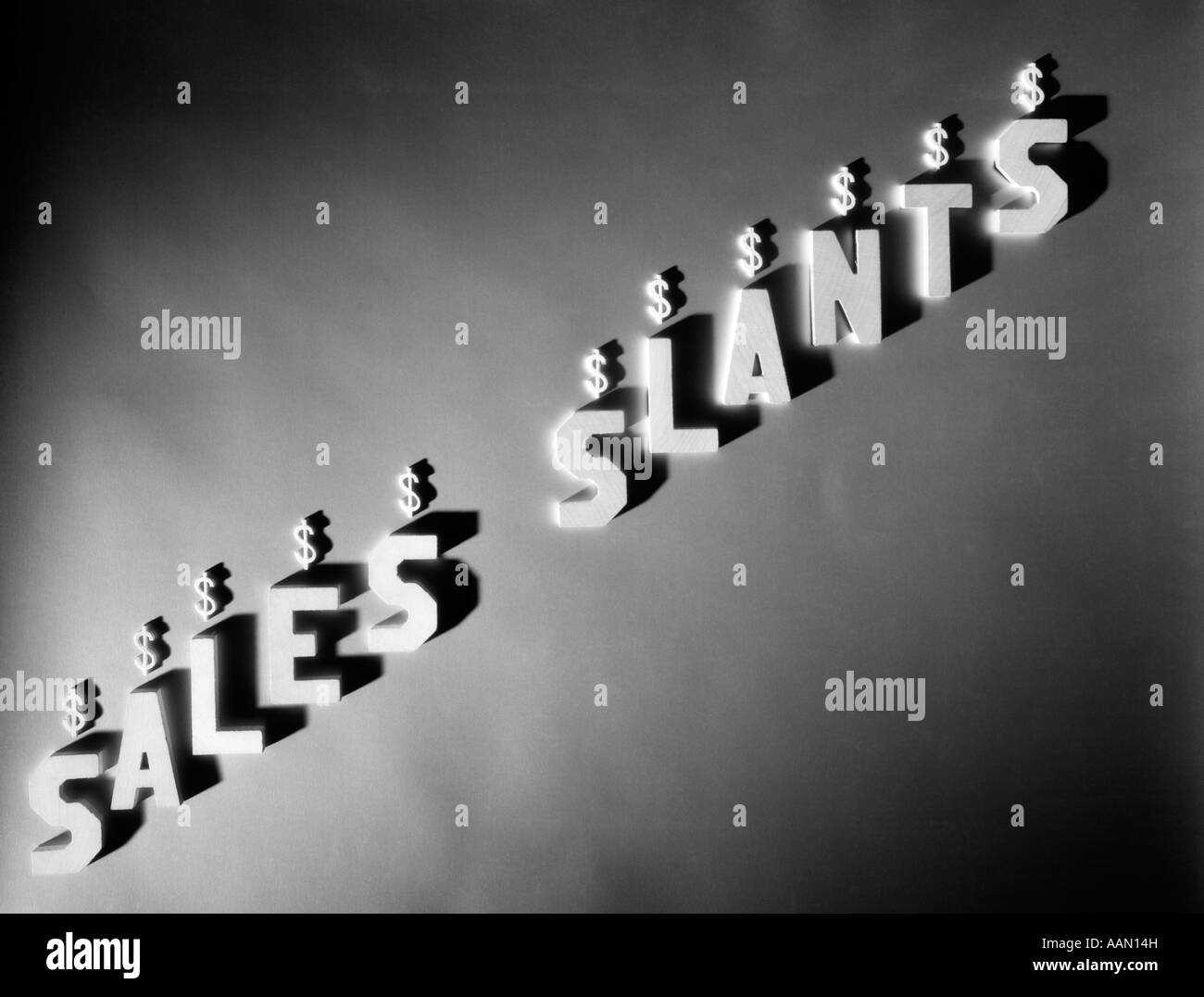 SALES SLANTS - Stock Image