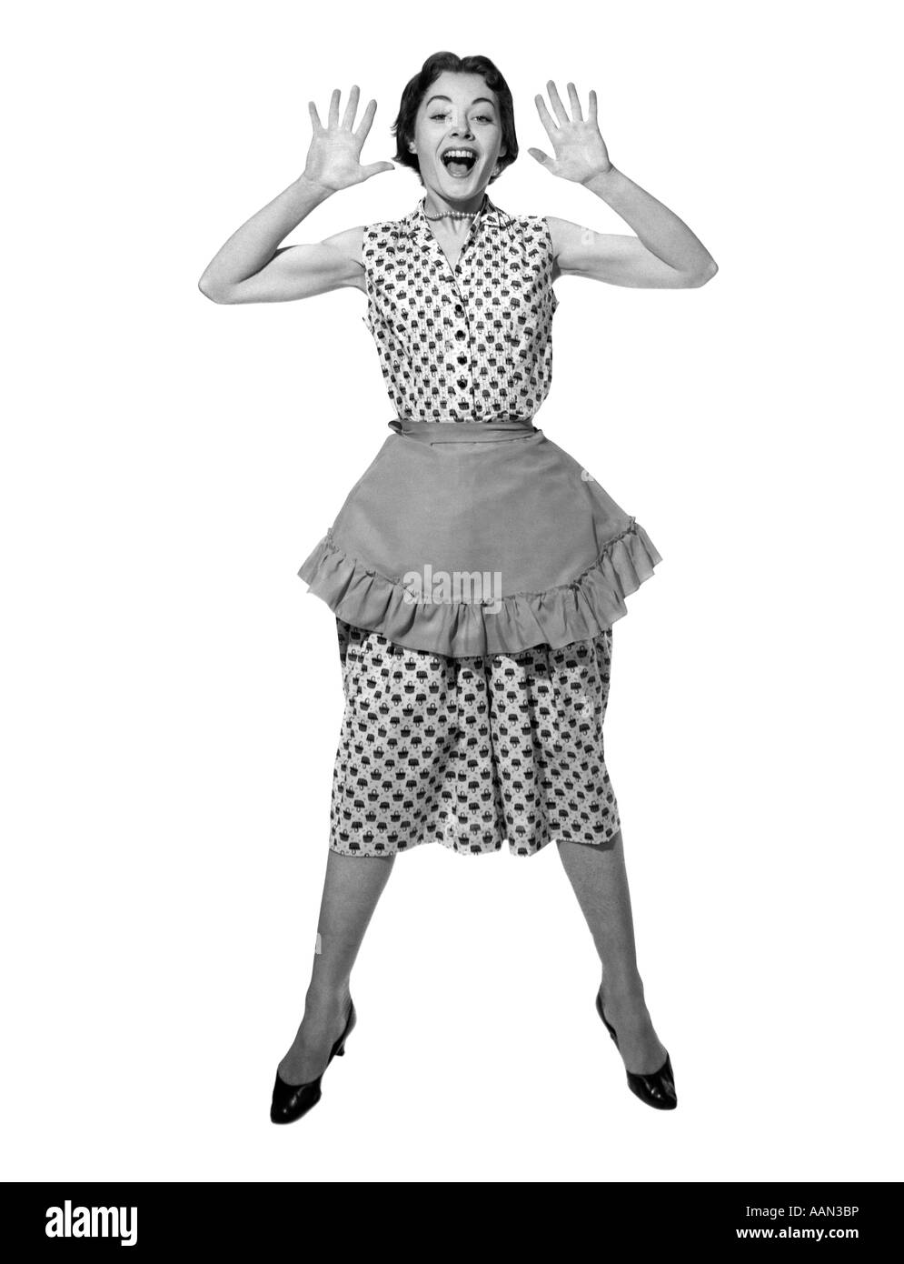 1950s Woman In Dress Apron Stock Photos Amp 1950s Woman In