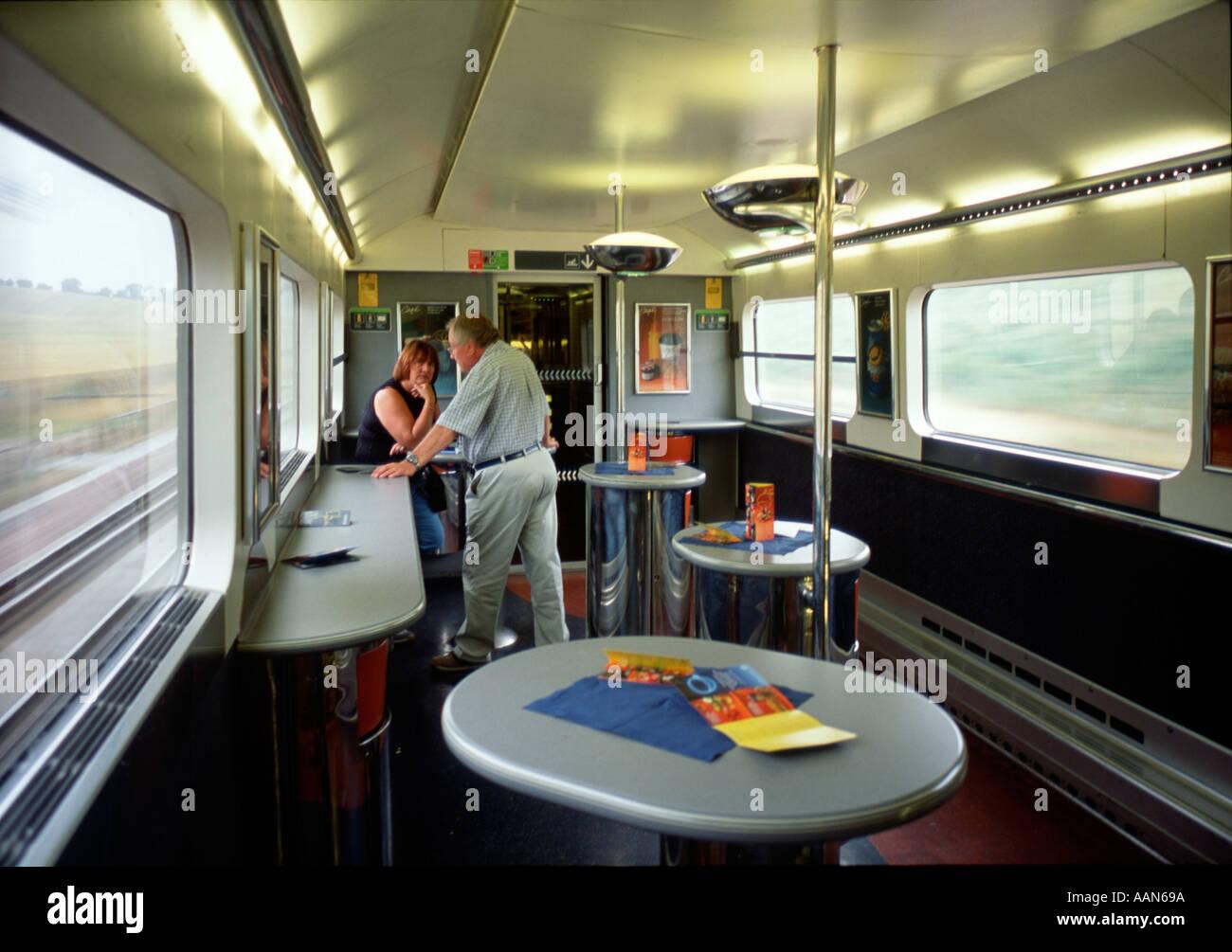Buffet Car Of TGV Train Grande Vitesse France