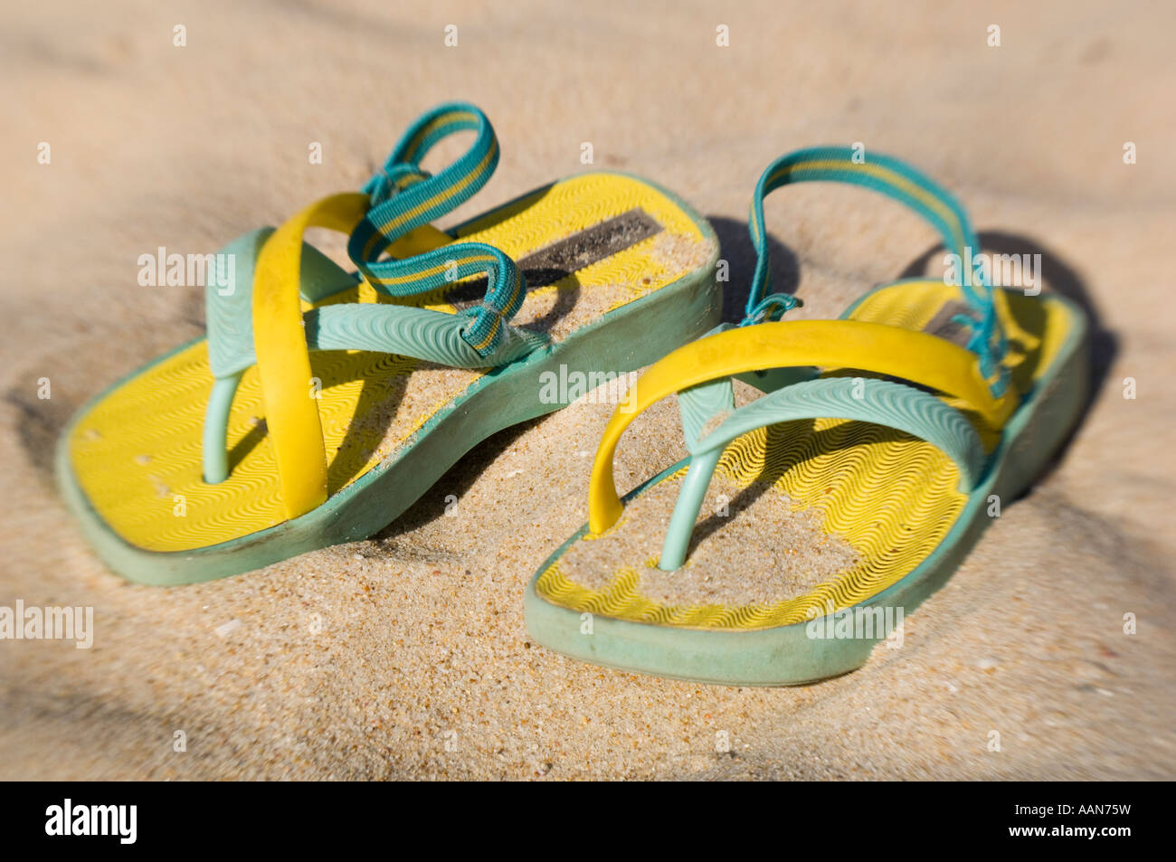 beach shoes - Stock Image