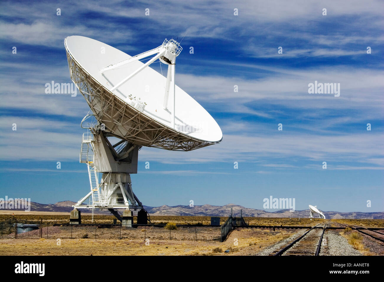 The Very Large Array in San Agustin New Mexico - Stock Image
