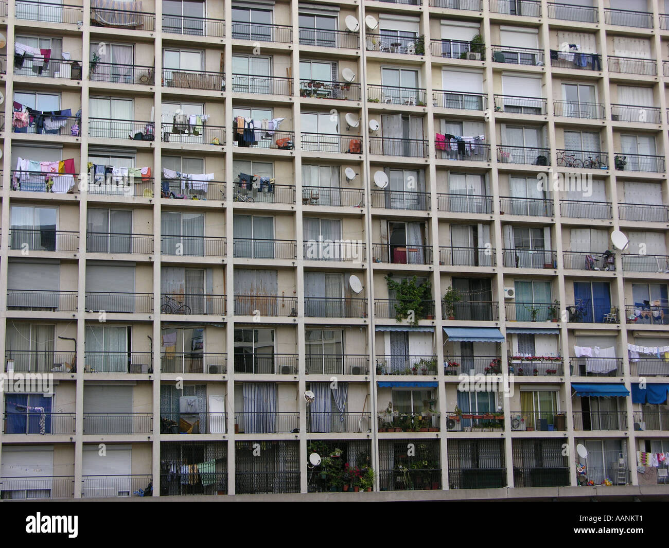 Council housing in Marseille, France - Stock Image