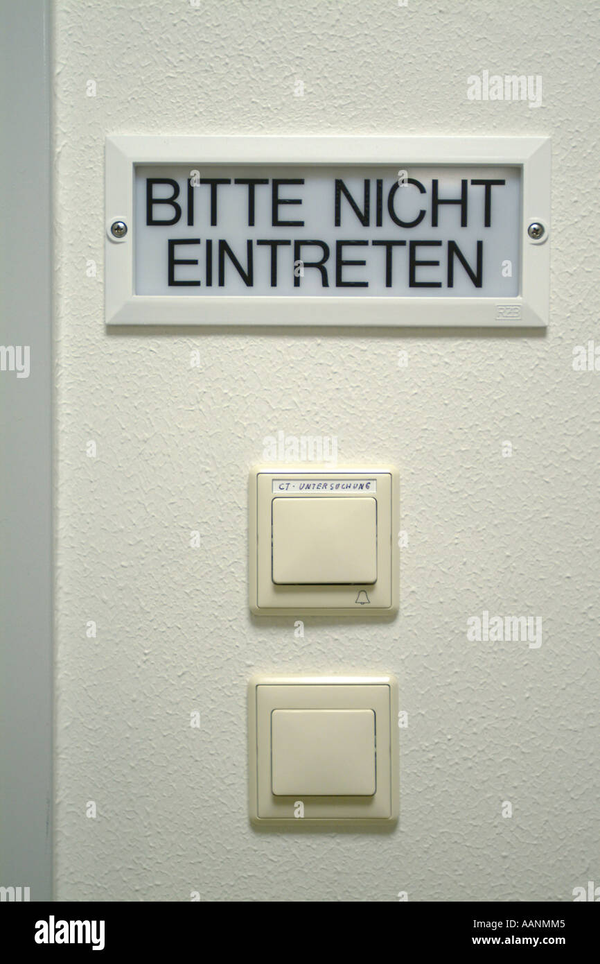 Sign: please do not enter, unlit, with two switches Stock Photo ...
