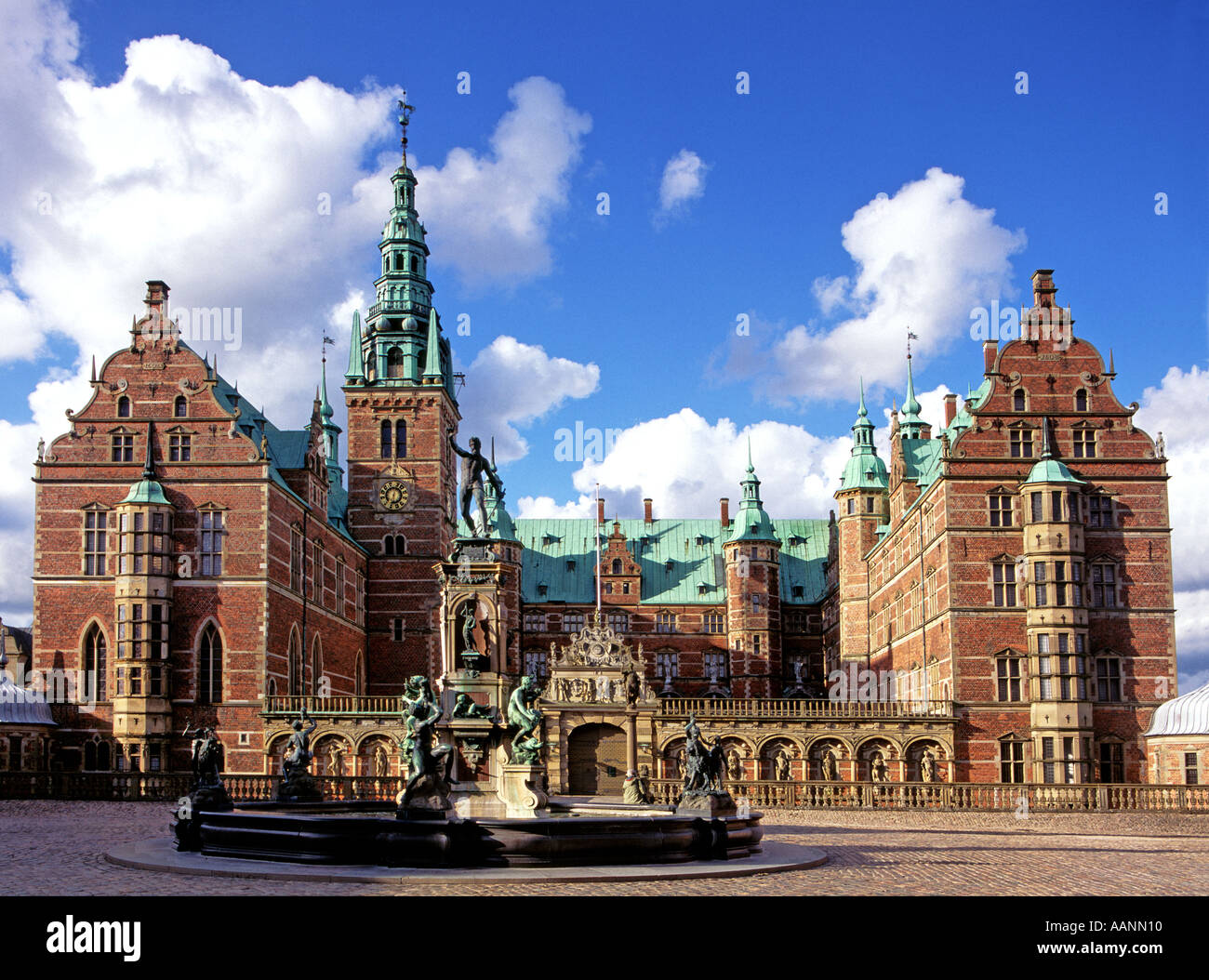 Denmark North Zealand Hillerod Frederiksborg slot Castle - Stock Image