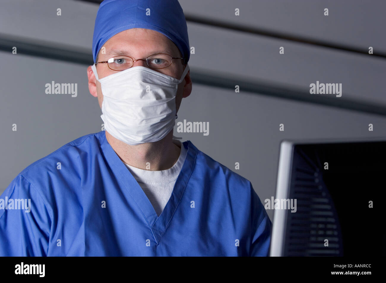 Doctor with technology - Stock Image