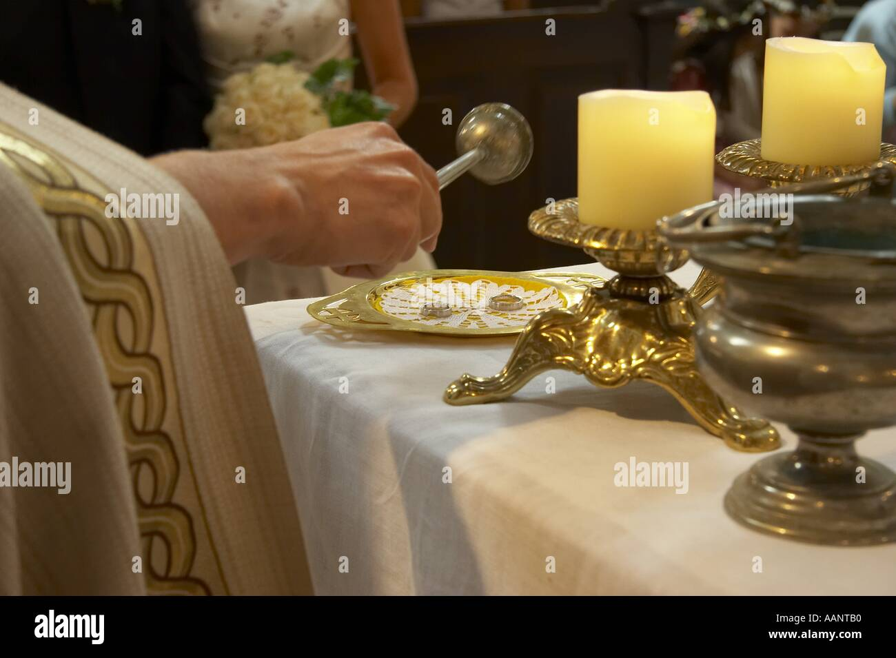 Blessing Of Wedding Rings Stock Photos Blessing Of Wedding Rings