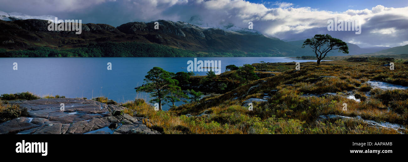 Loch Maree and Mount Slioch Wester Ross Scotland UK - Stock Image