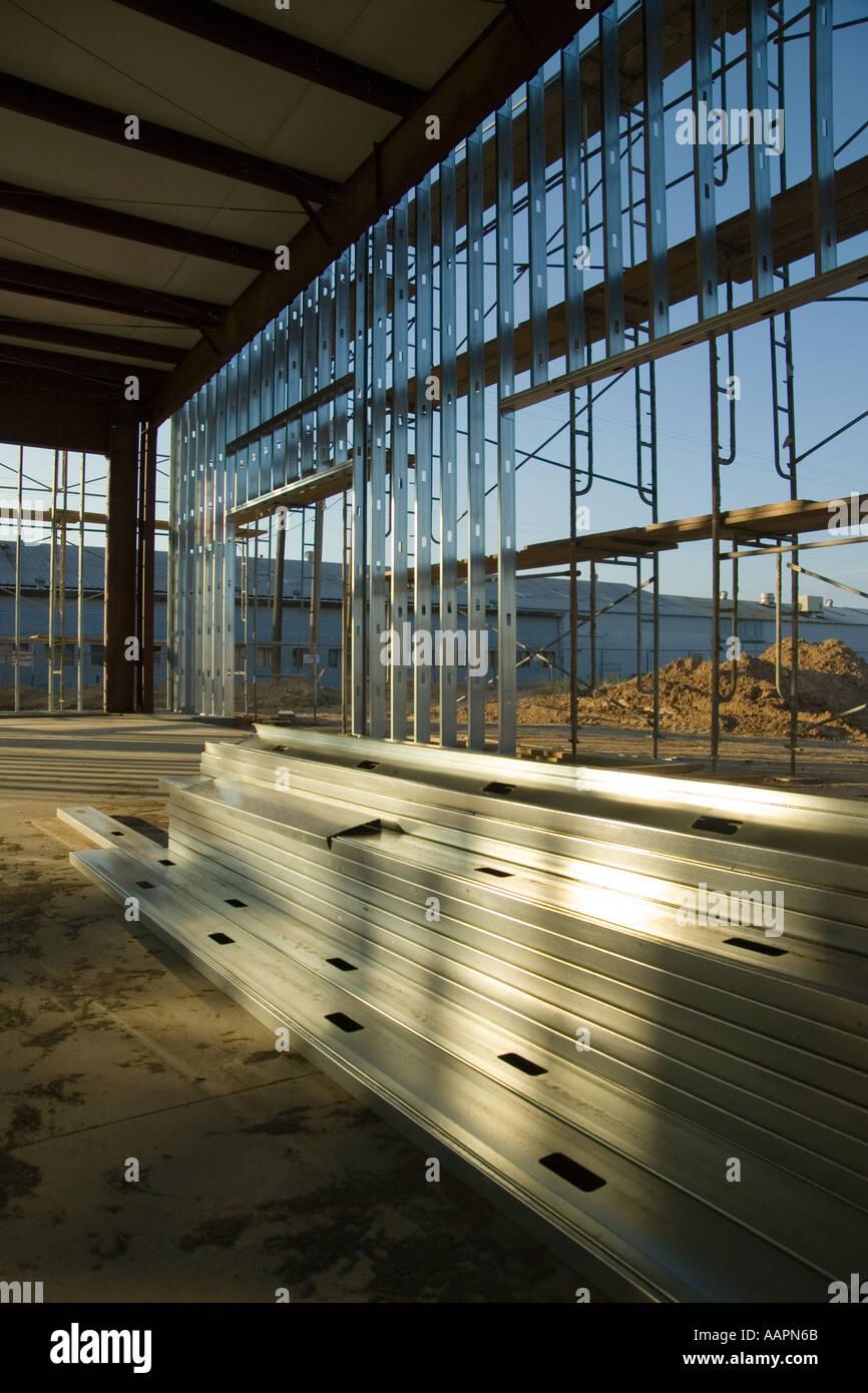 Steel building materials recycle energy comodities - Stock Image