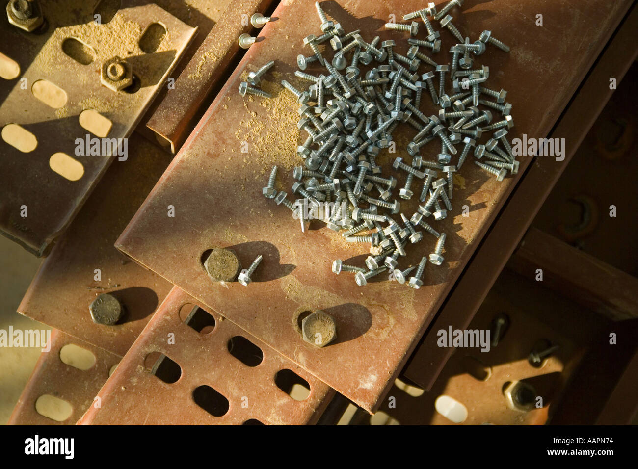Steel building materials recycle energy comodities cunstruction - Stock Image