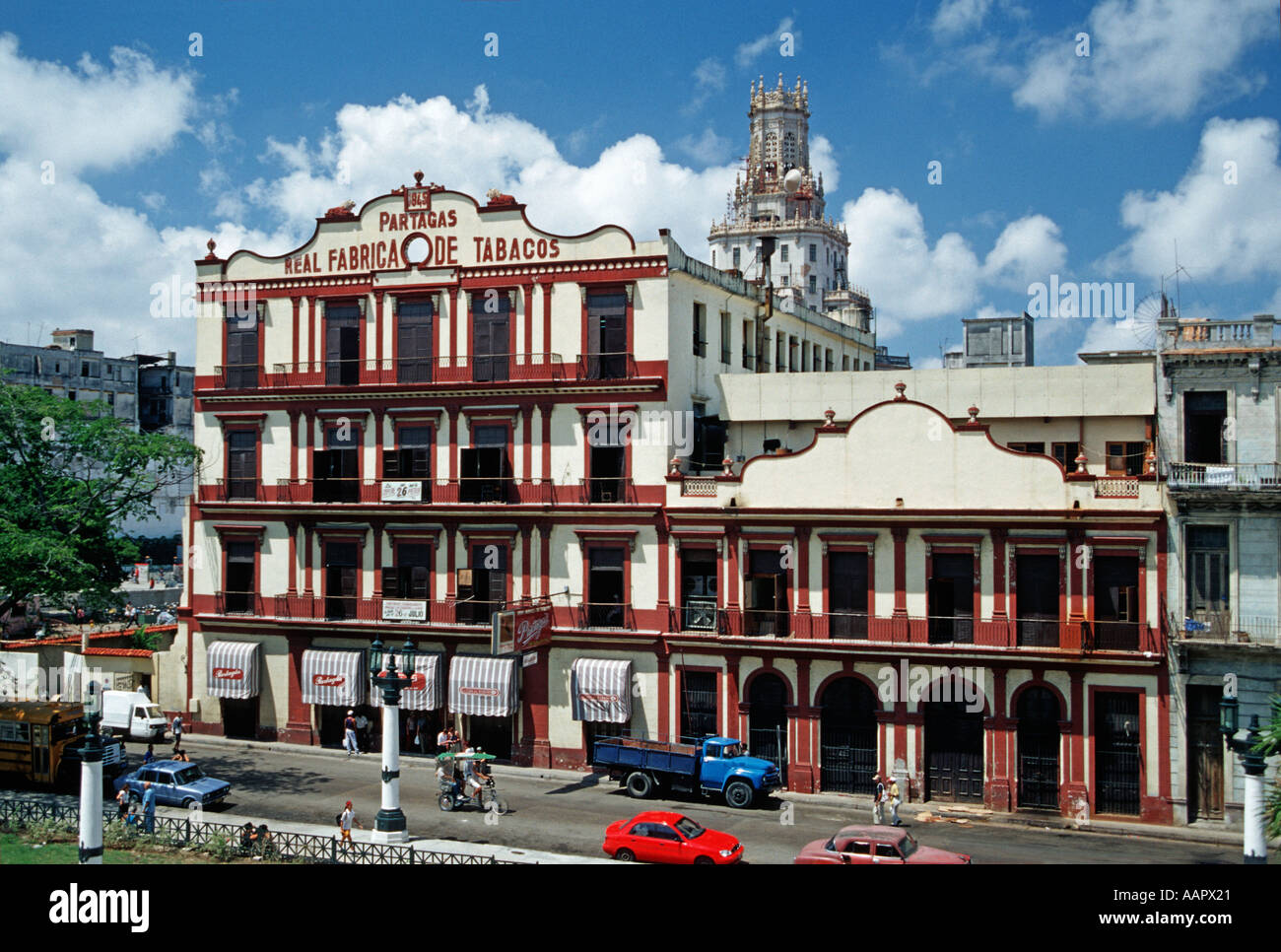 Partagas Real Fabrica de Tabacos Cigar factory Havana Cuba Founded 1845 - Stock Image
