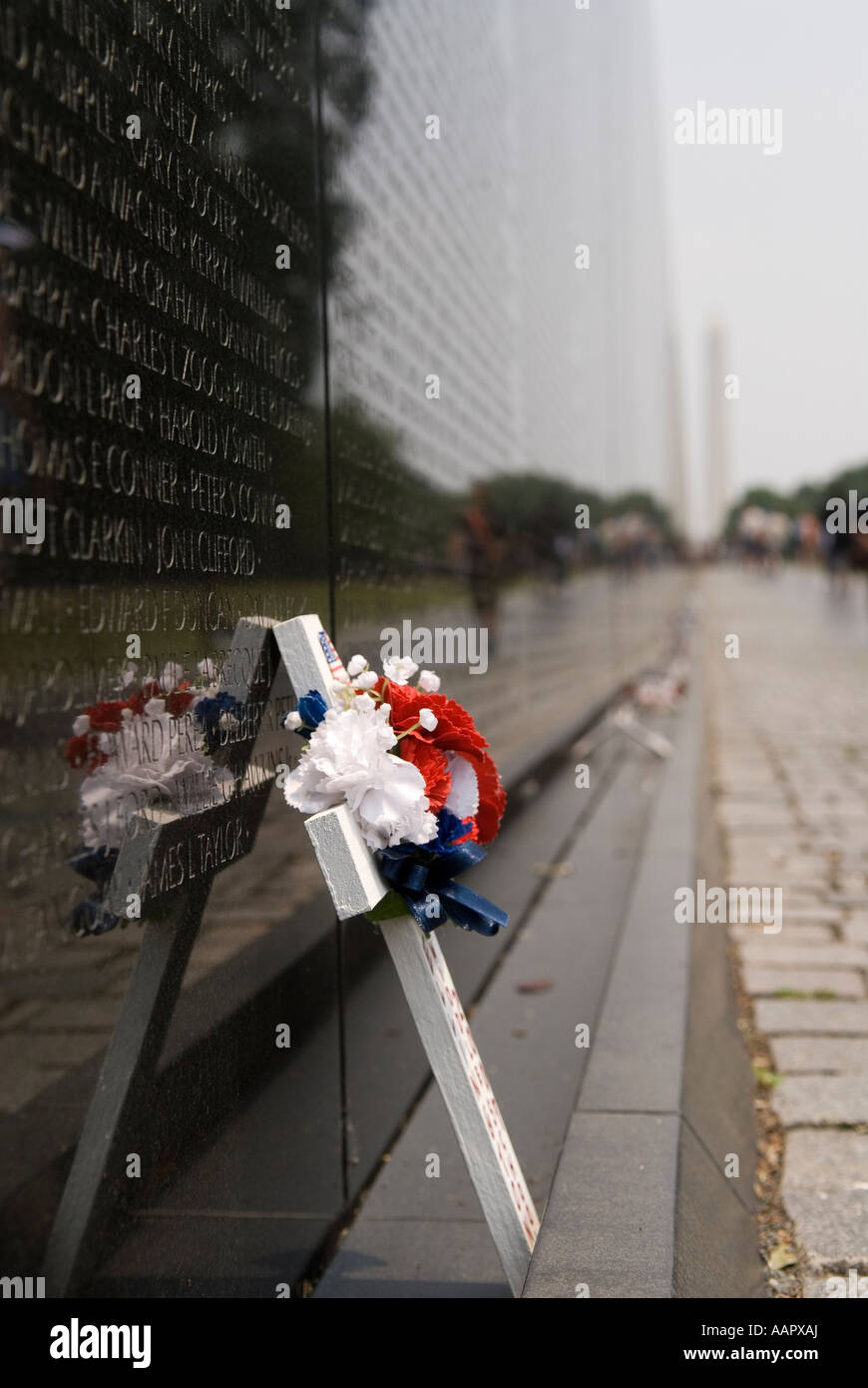 Vietnam Veterans Memorial  Washington DC USA, Military Park - Stock Image