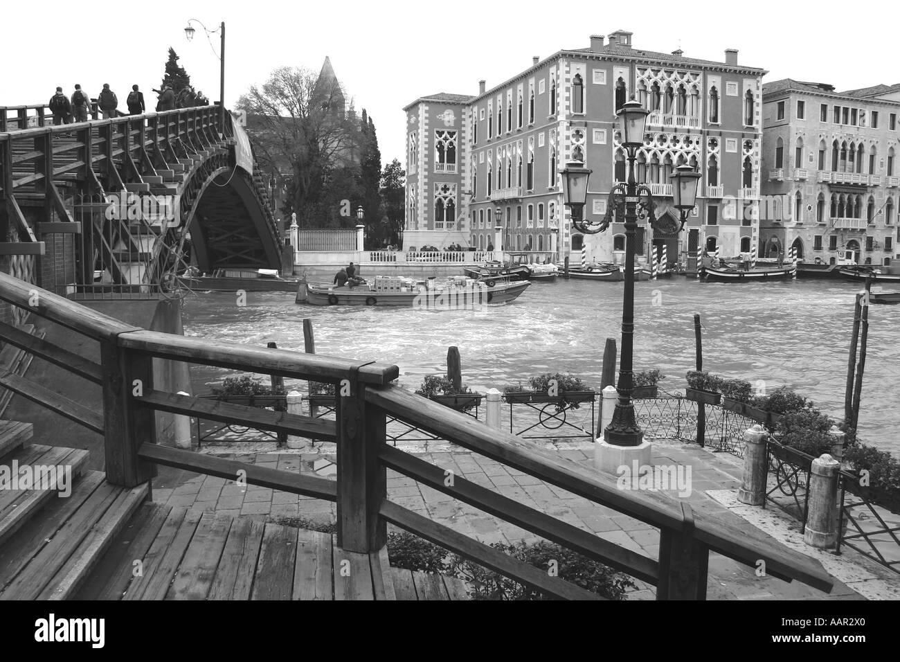 Accademia bridge, Venice, Italy - Stock Image
