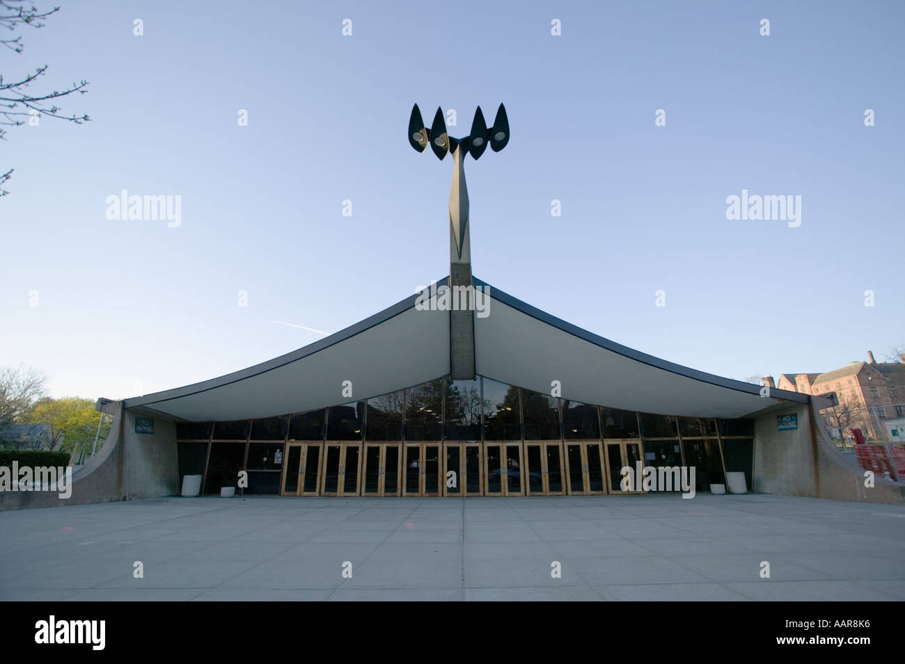 Ingalls Rink entry commonly called Yale Whale 1958 by Eero Saarinen Yale University New Haven Connecticut - Stock Image