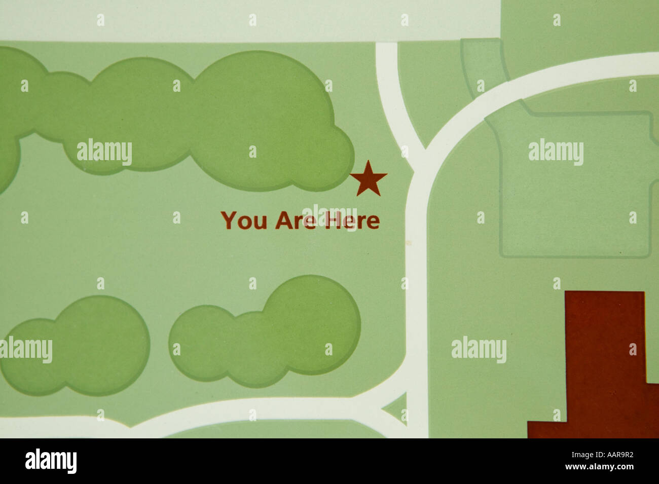 You are here says the map at the historic site - Stock Image