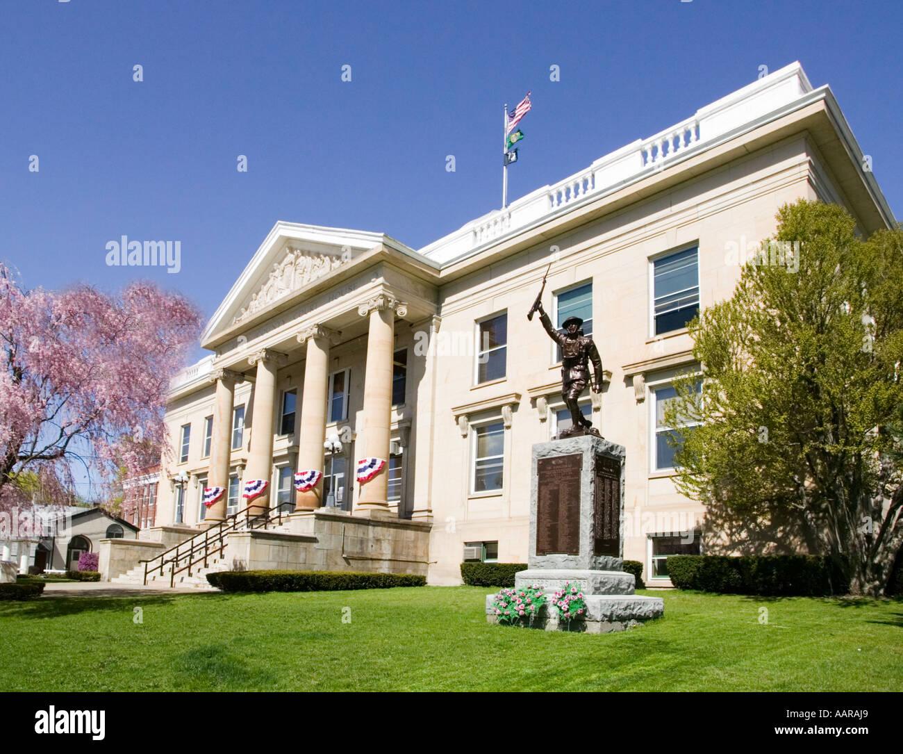 Greene County Courthouse Catskill New York Stock Photo
