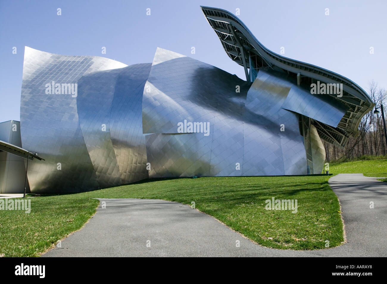 Frank Gehry designed Fisher Center for the Performing Arts Bard College Annandale on Hudson New York - Stock Image