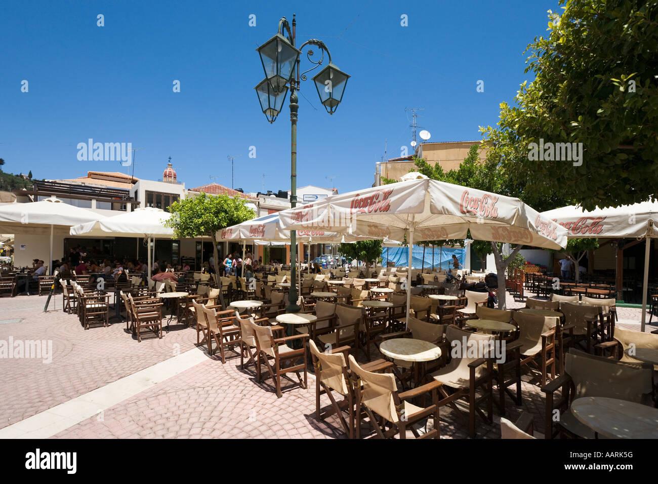 Cafe in Zakynthos Town, Zakynthos, Ionian Islands, Greece Stock Photo