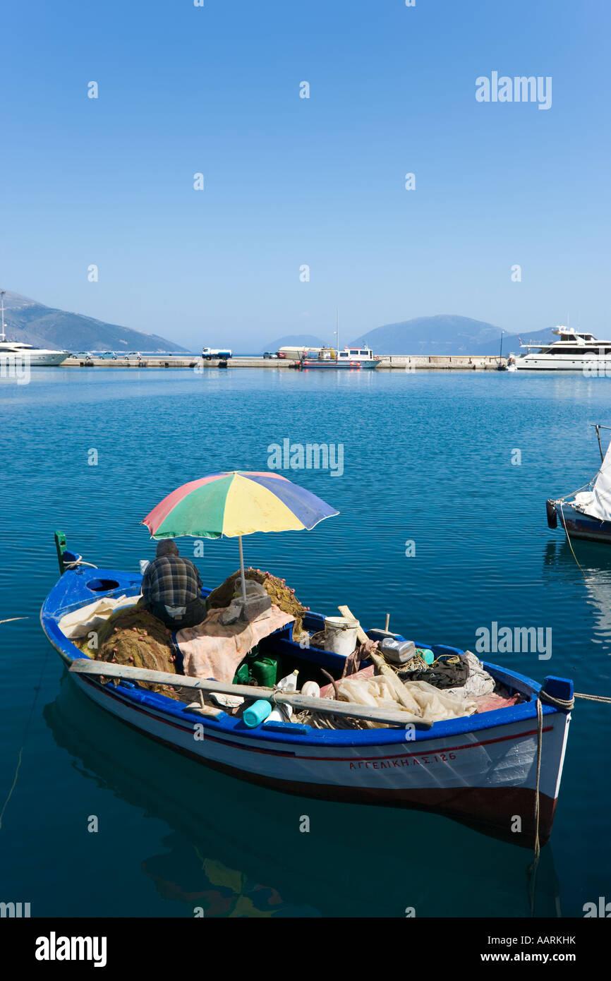 Fishing Boat , Sami, Kefalonia, Ionian Islands, Greece - Stock Image