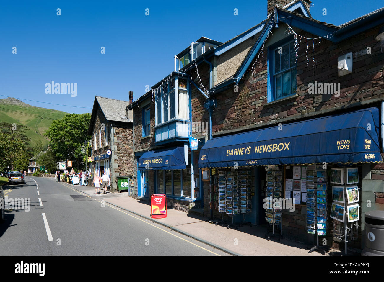 Shops in Village Centre, Grasmere, Lake District, Cumbria, England, UK - Stock Image