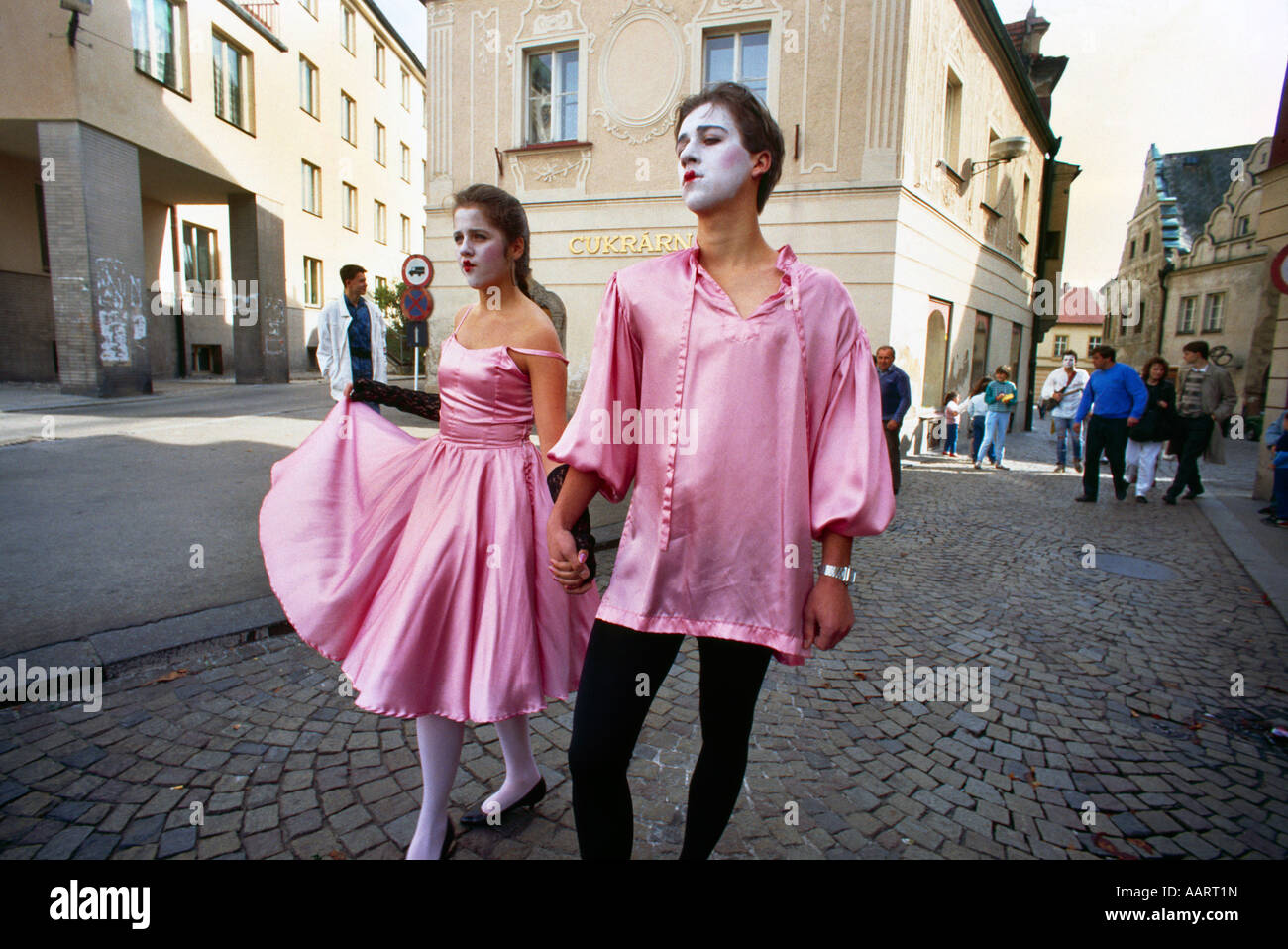 Tabor Czech Republic Street Mime - Stock Image