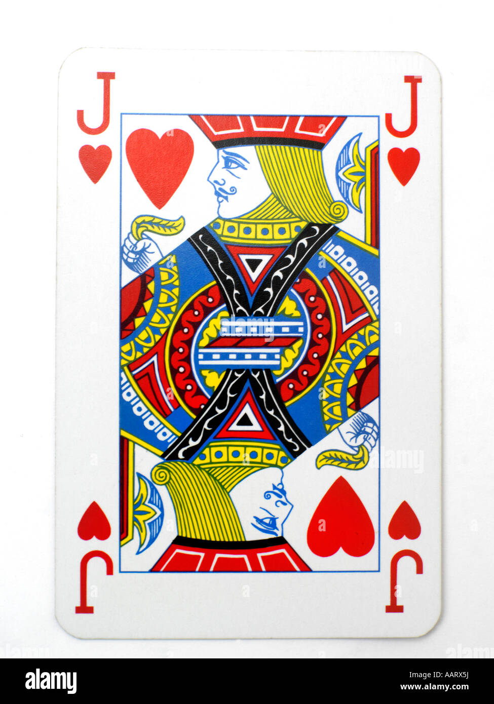 Playing Card Jack of Hearts Stock Photo