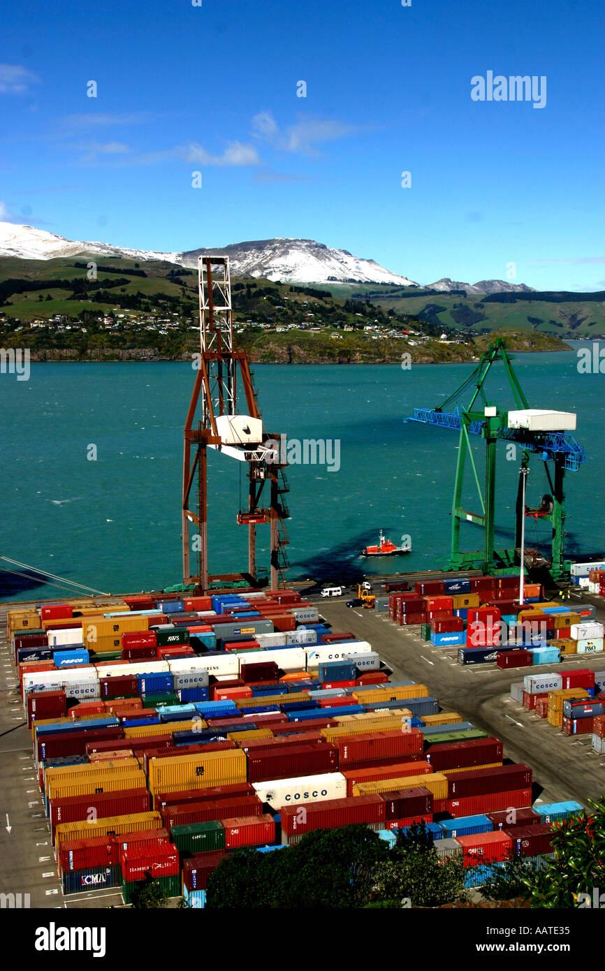 Llyttleton Harbour New Zealand - Stock Image
