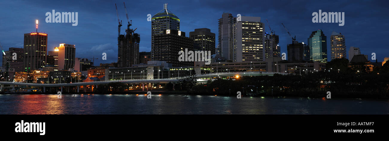 Brisbane by the river - Stock Image