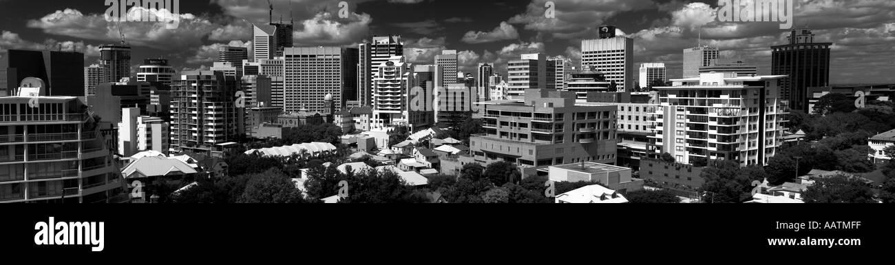 Brisbane Panaramic black and white - Stock Image