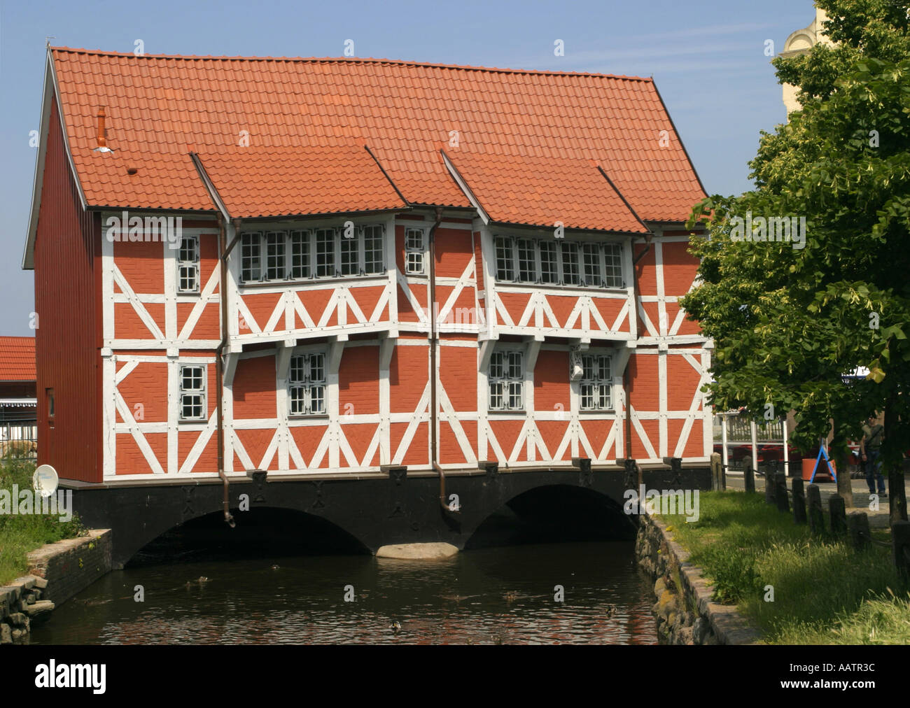Germany Wismar Wooden house - Stock Image