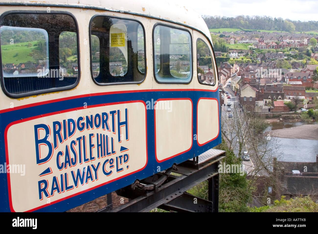 Bridgenorth Castle Hill Railway. Stock Photo